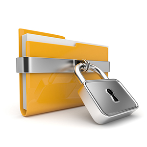 file folder with lock